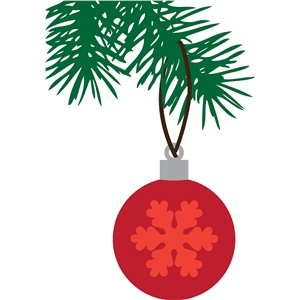 pine bough & ornament