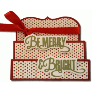 be merry and bright tri-fold card