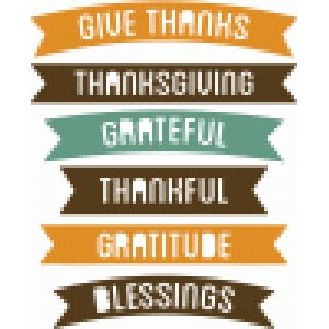 banner words - thanksgiving gratitude