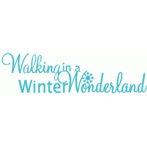 walking in a winter wonderland title