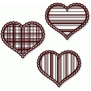 hearts - plaid & striped
