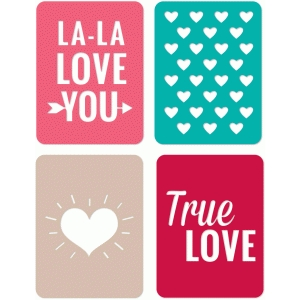 3x4 journaling cards valentine edition