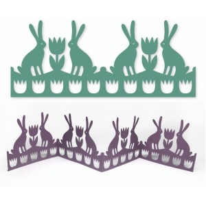 bunnies and tulips accordion fold easter decoration