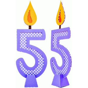 birthday candle number 5 with 3d base