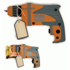 power drill shaped candy wrap