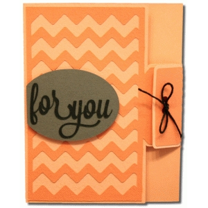a2 chevron for you tie card