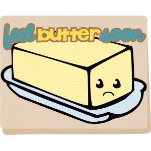 feel butter kawaii card