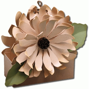 3d sunflower flower treat box