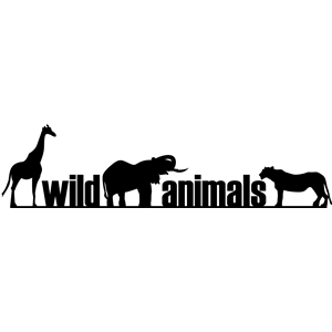 border - wild animals