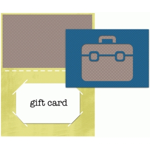 suitcase gift card
