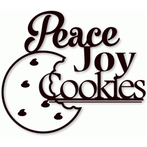 peace joy cookies