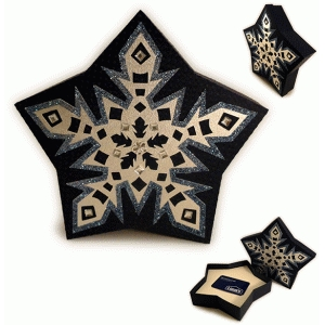 snowflake five pointed 3d gift card box