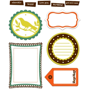 retro spring journal spots & tags