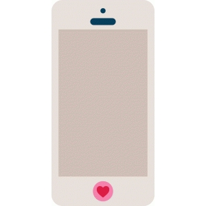 trendy heart phone