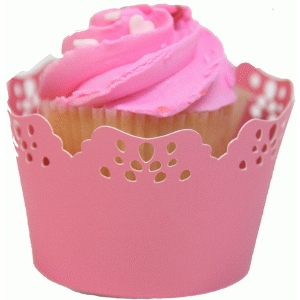 lacey cupcake wrapper