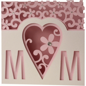 5x5 flourish mother's day layer card