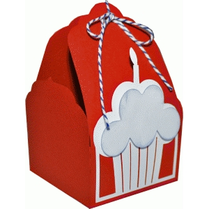 tag topper favor box - cupcake birthday