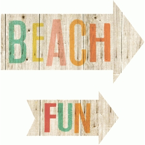 beach, fun arrows