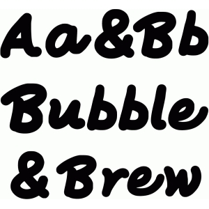 bubble and brew font