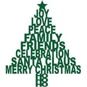 merry christmas tree words - Merry Christmas Words