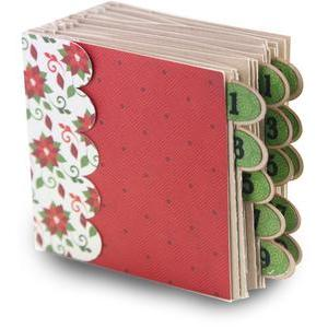 25 days of december french fold album- square 5 x 5 album