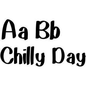 chilly day font