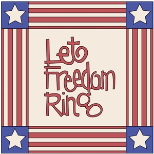let freedom ring quilt block