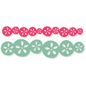 flower circles border