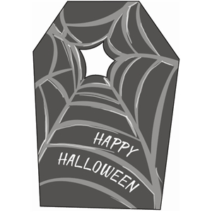halloween spider web tag
