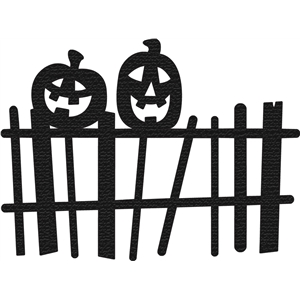 pumpkins on fence silhouette