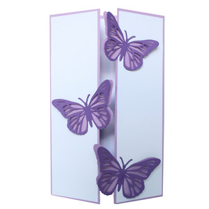 butterfly closure card