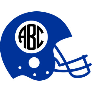 helmet football monogram