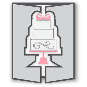 gatefold card - wedding cake