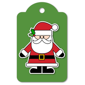 easy print + cut tag santa claus