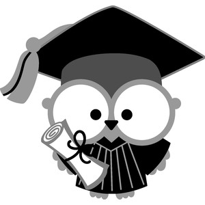 graduation owl boy - hats off!