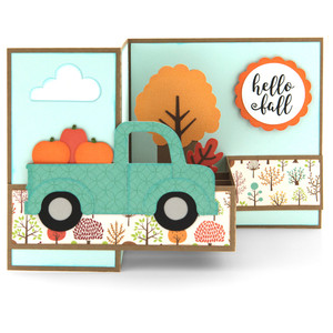 pop up box card fall pickup