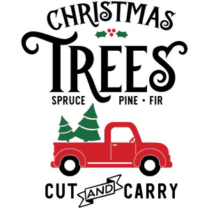 christmas trees truck