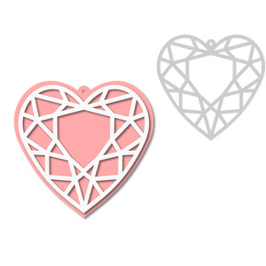 heart gem ornament - tag