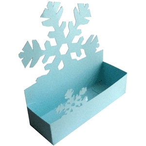 business card holder - snowflake