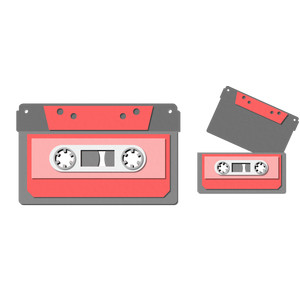 pocket / insert card - cassette tape