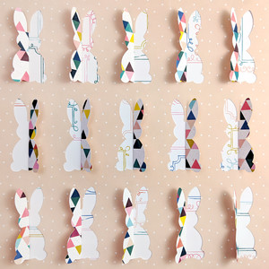 cut and fold easter bunny background