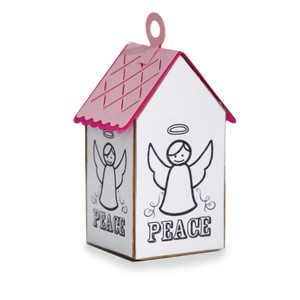 ml coloring house ornament - angel
