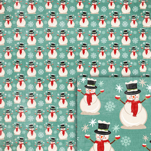 winter snowman backround paper
