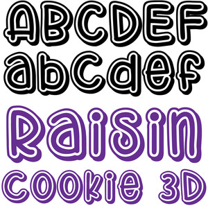 zp raisin cookie 3d