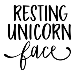 resting unicorn face phrase