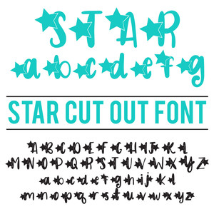 star cut out font