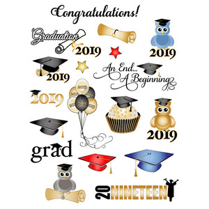 2019 graduation planner stickers