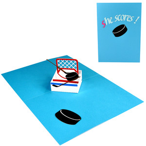 s-he scores! hockey pop up box in a card