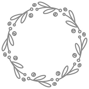 simple berry wreath