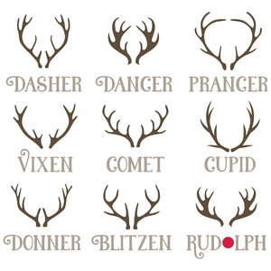 reindeer names with antlers